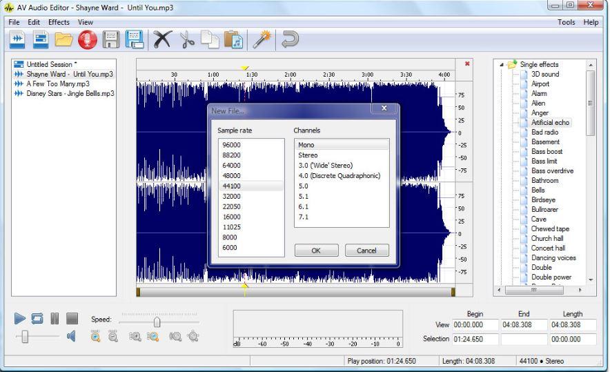 AV audio editor software