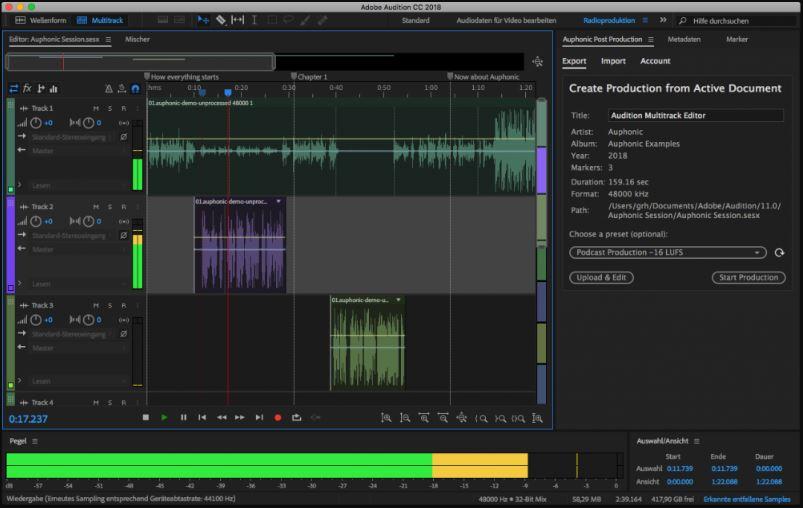 Adobe Audition paid alternative to Audacity