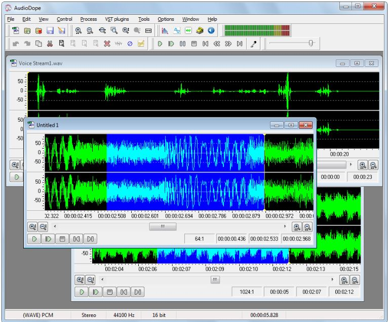Audiodope is an audio editor windows