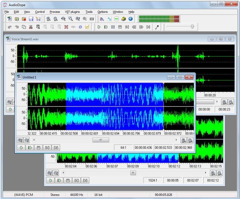 Audiodope is an audio editor windows