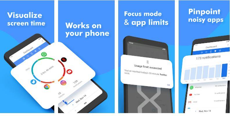 ActionDash- Digital Wellbeing & Screen Time helper