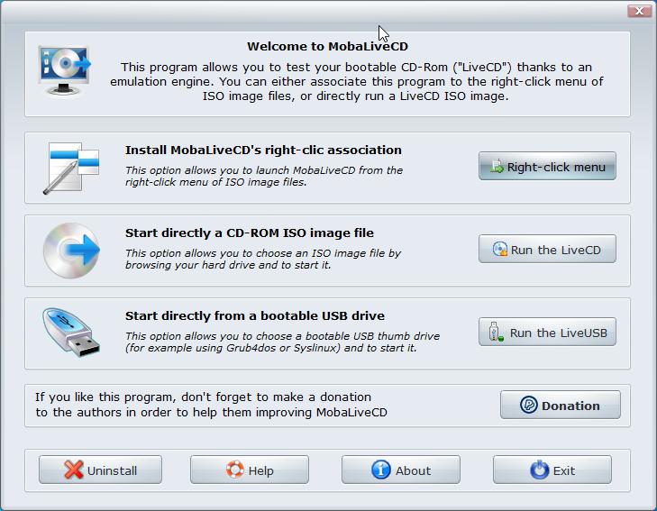 MobaLiveCD screenshot