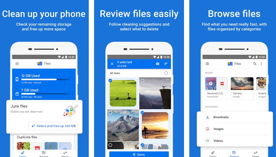 Google file cleaner app min