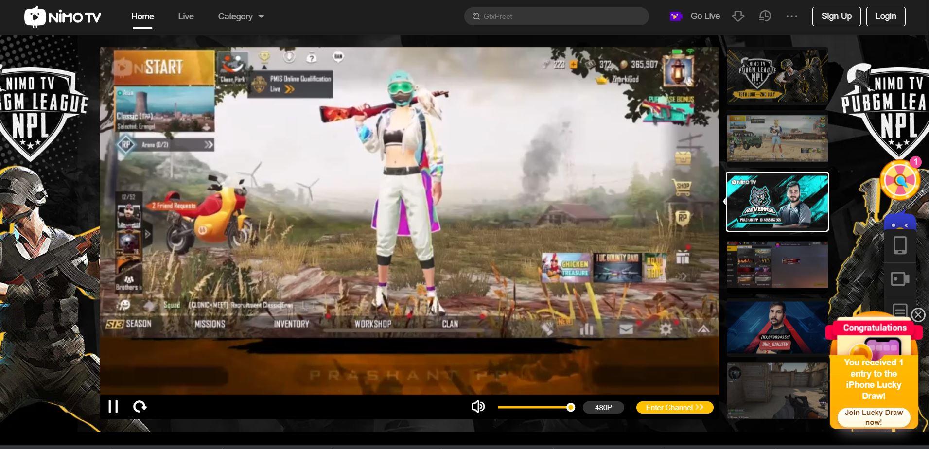 Nimo TV streaming alternative platform to Discord min