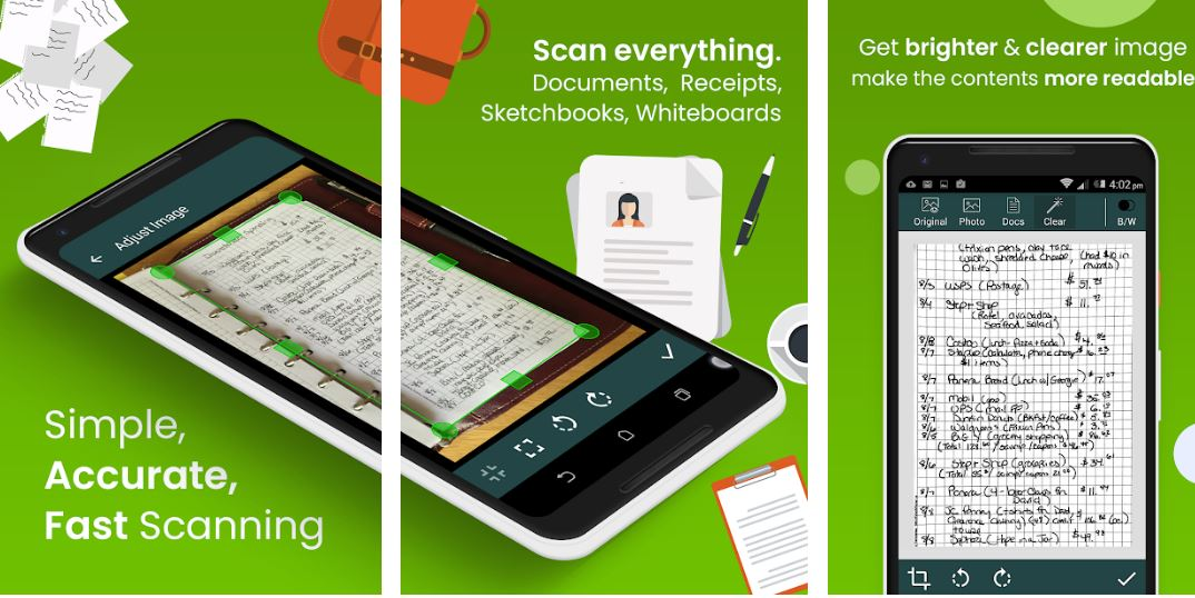 Clear Scan Free Document Scanner App PDF Scanning
