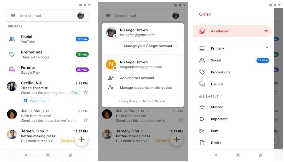 Gmail app best substitutes