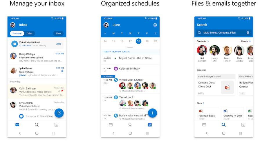 Microsoft Mail outlook for smartphones