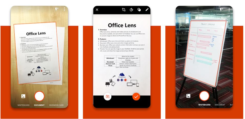 Microsoft Office Lens best alternative to camscanner