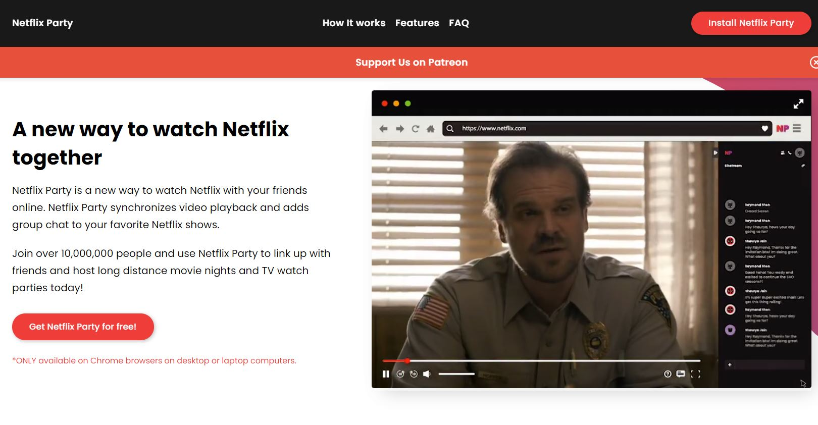 Netflix Party chrome extension alternative to Rabbit min