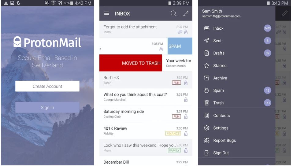 ProtonMail Encrypted Email best QQ mail replacement