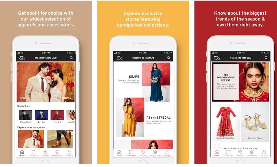 Tata CLiQ Online Shopping App India min