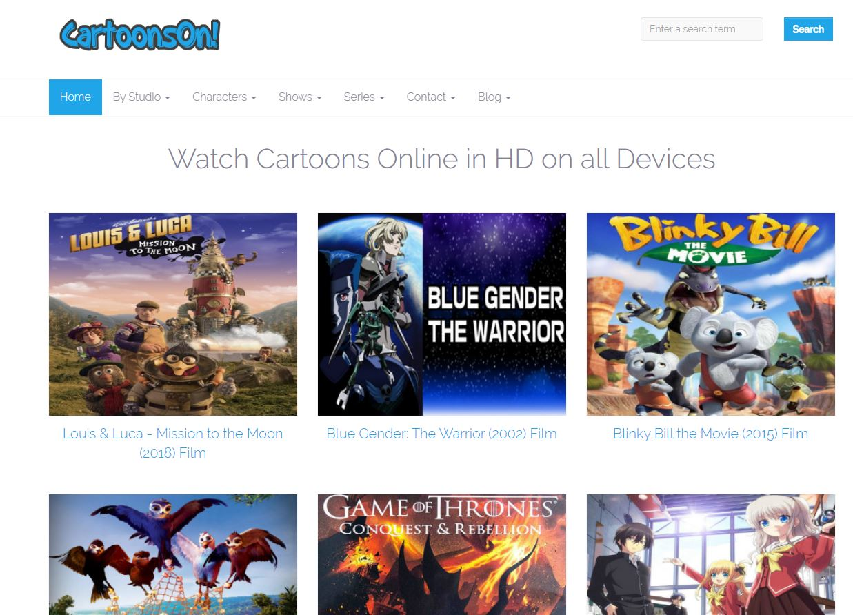 Kisscartoon alternative website to watch free cartoons min