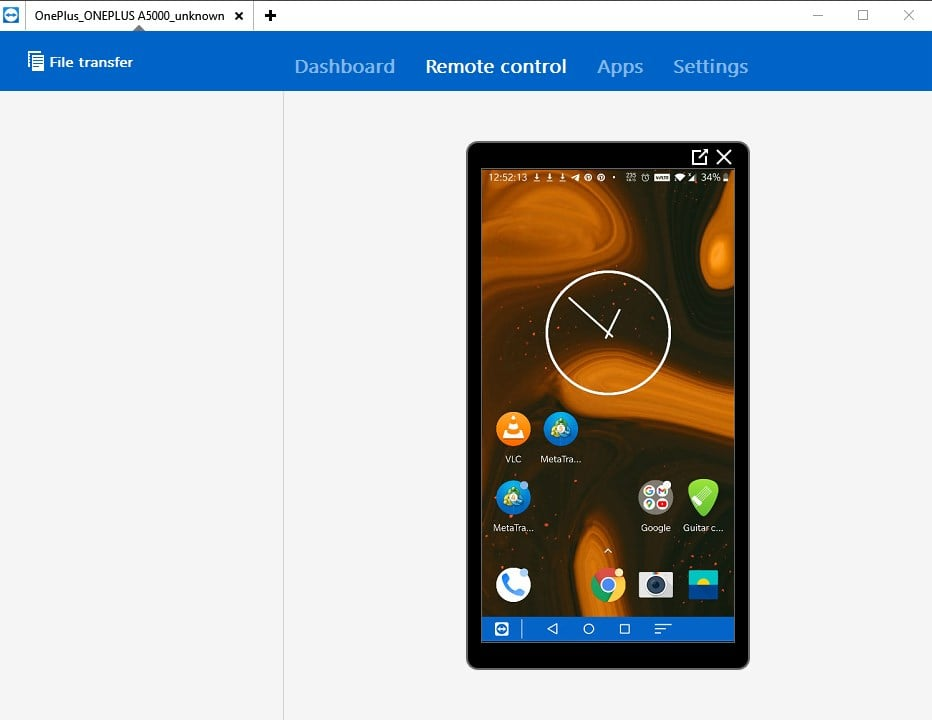 Teamviewer remote control for Android smartphone