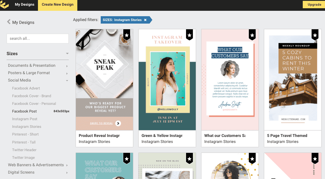 Easil alternative to Canva for Drag Drop Graphic Design tools and templates