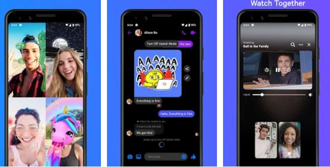 Messenger – Text and Video Chat for Free min