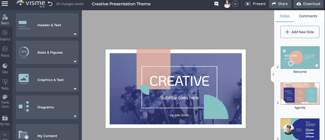 Visme to replace Canva for online graphic designing