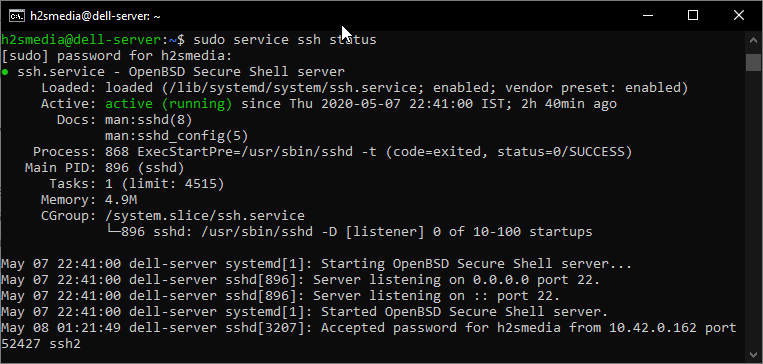 Enable-OpenSSH-server-on-Ubuntu-20.04