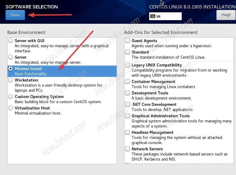 Minimal CentOS 8 Server-min