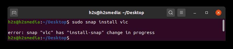 error: snap has install-snap change in progress