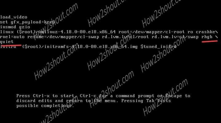 recover password RedHat 8