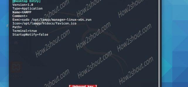 XAMPP Linux shortcut command