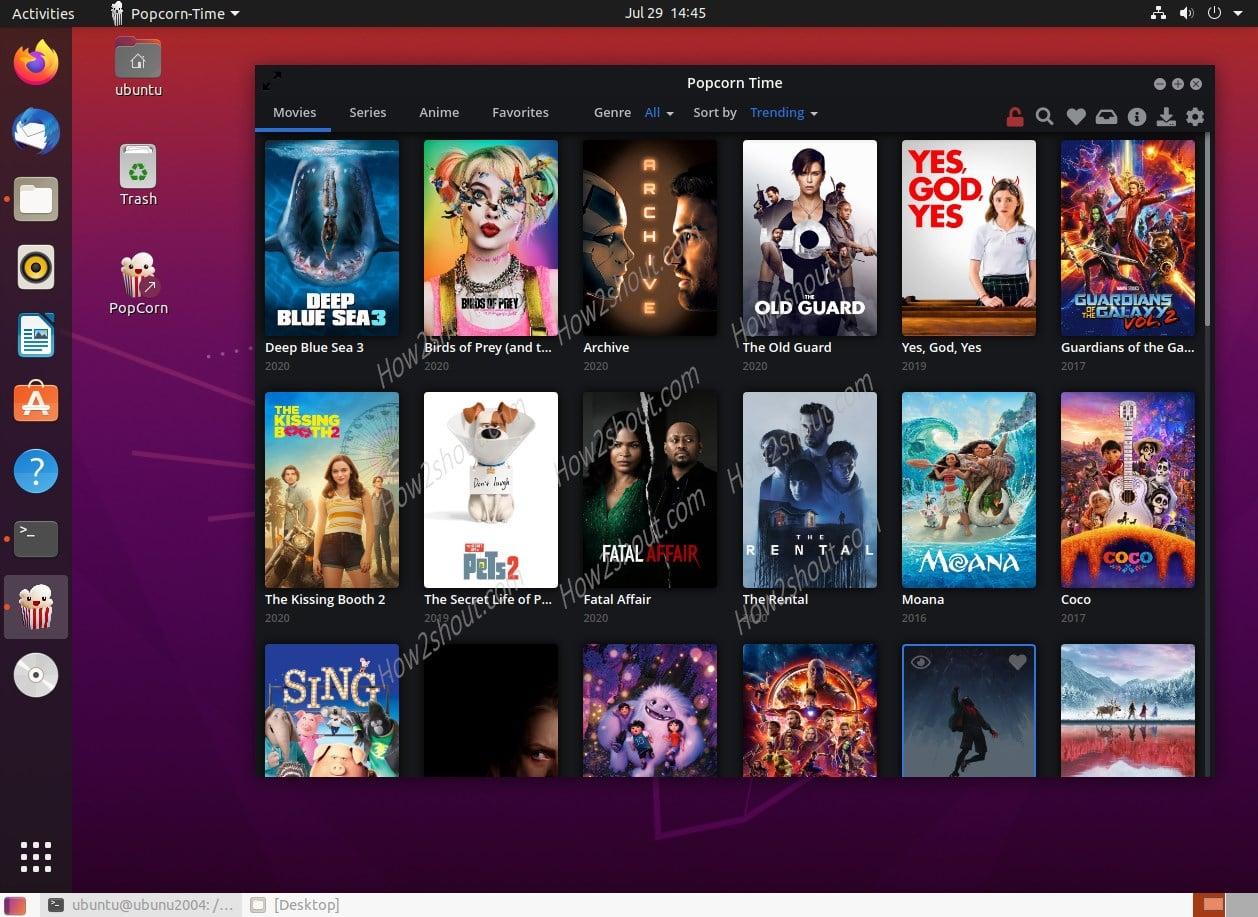 Popcoren Time streaming app installation on Ubuntu 20.04 LTS