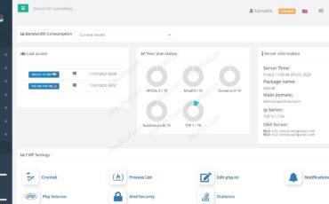 Centos WP Control Webpanel screenshot