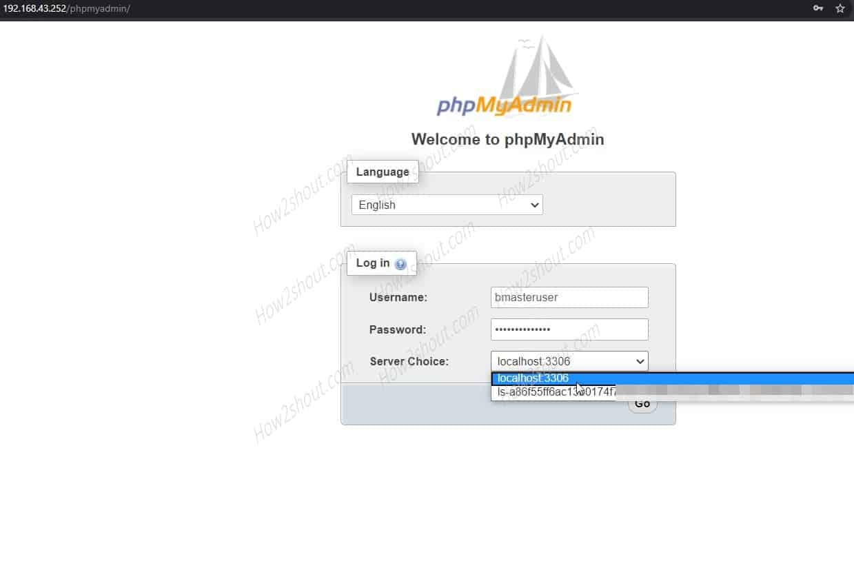 Run phpMyAdmin to access a remote database