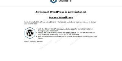 install Bitnami Wordpress on Ubuntu 20.04