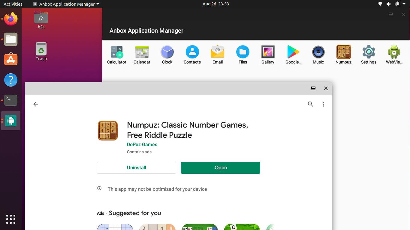 AnboxPlay store Arm apps Ubuntu 20.04 LTS min