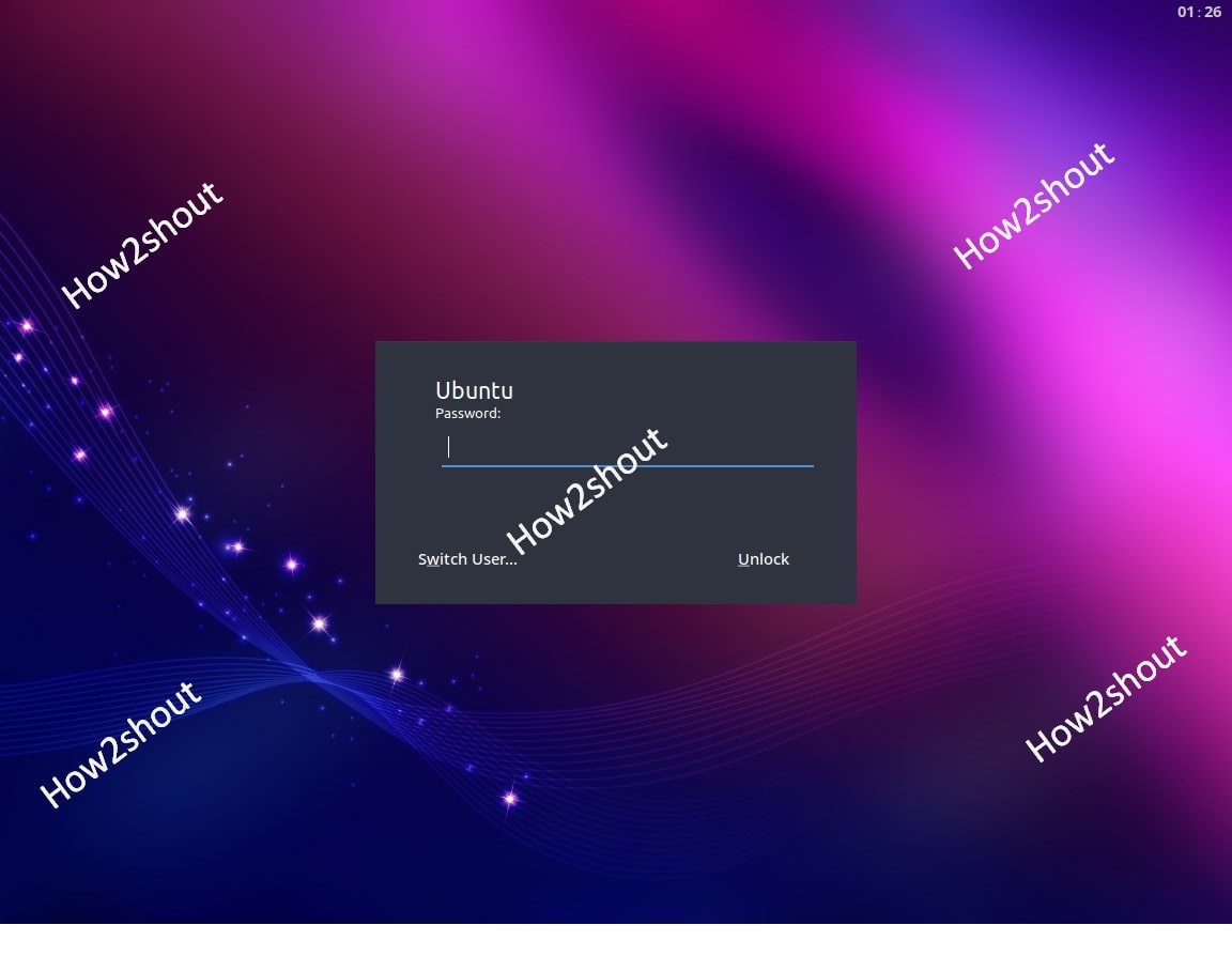 Budgie Desktop Ubuntu login screenshot