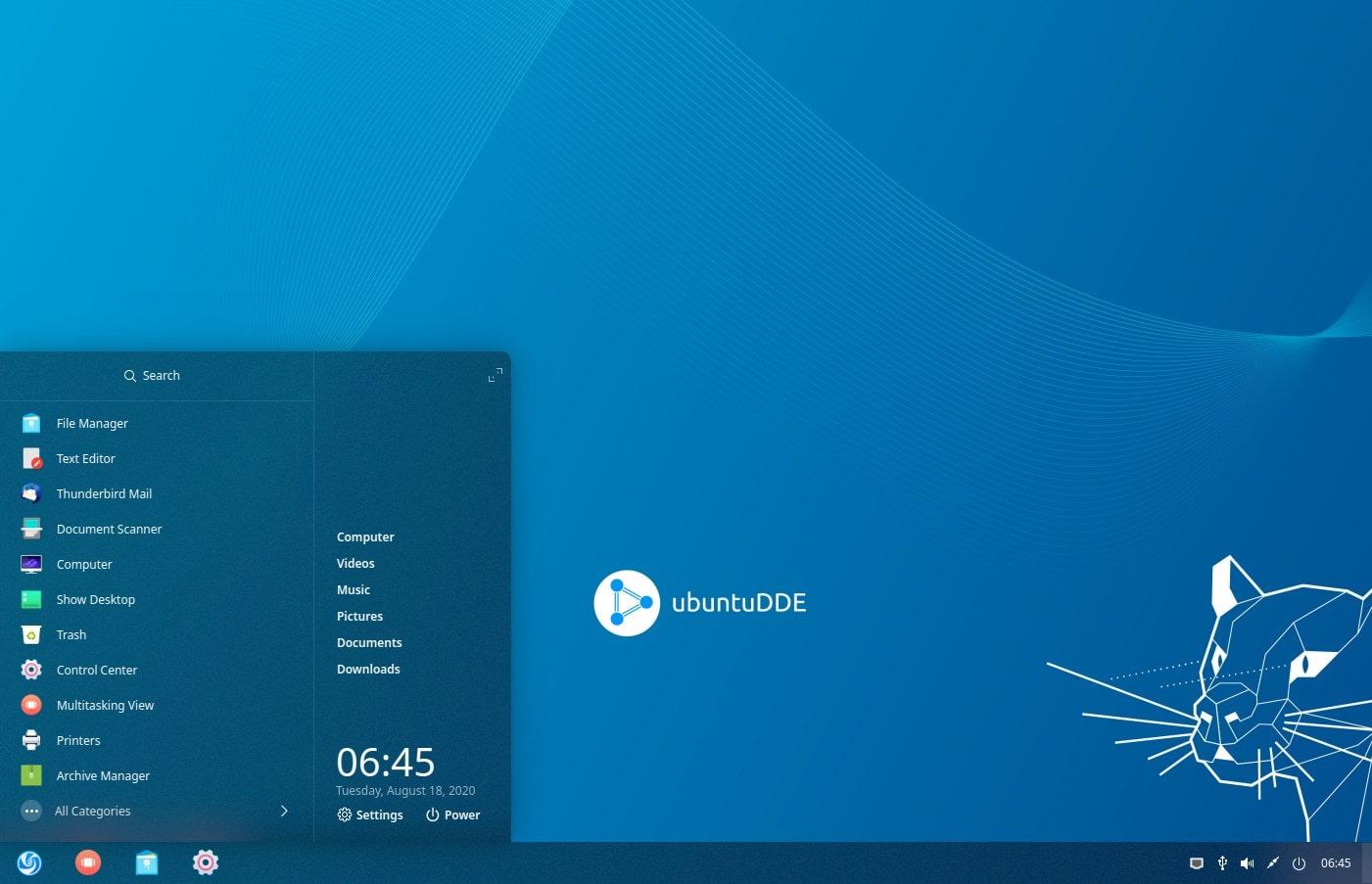 Deepin install on Ubuntu 20.04 with Windows Launcher and taskbar