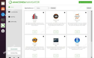 Install Anaconda Navigator Graphical user interface on Ubuntu and CentOS Linux