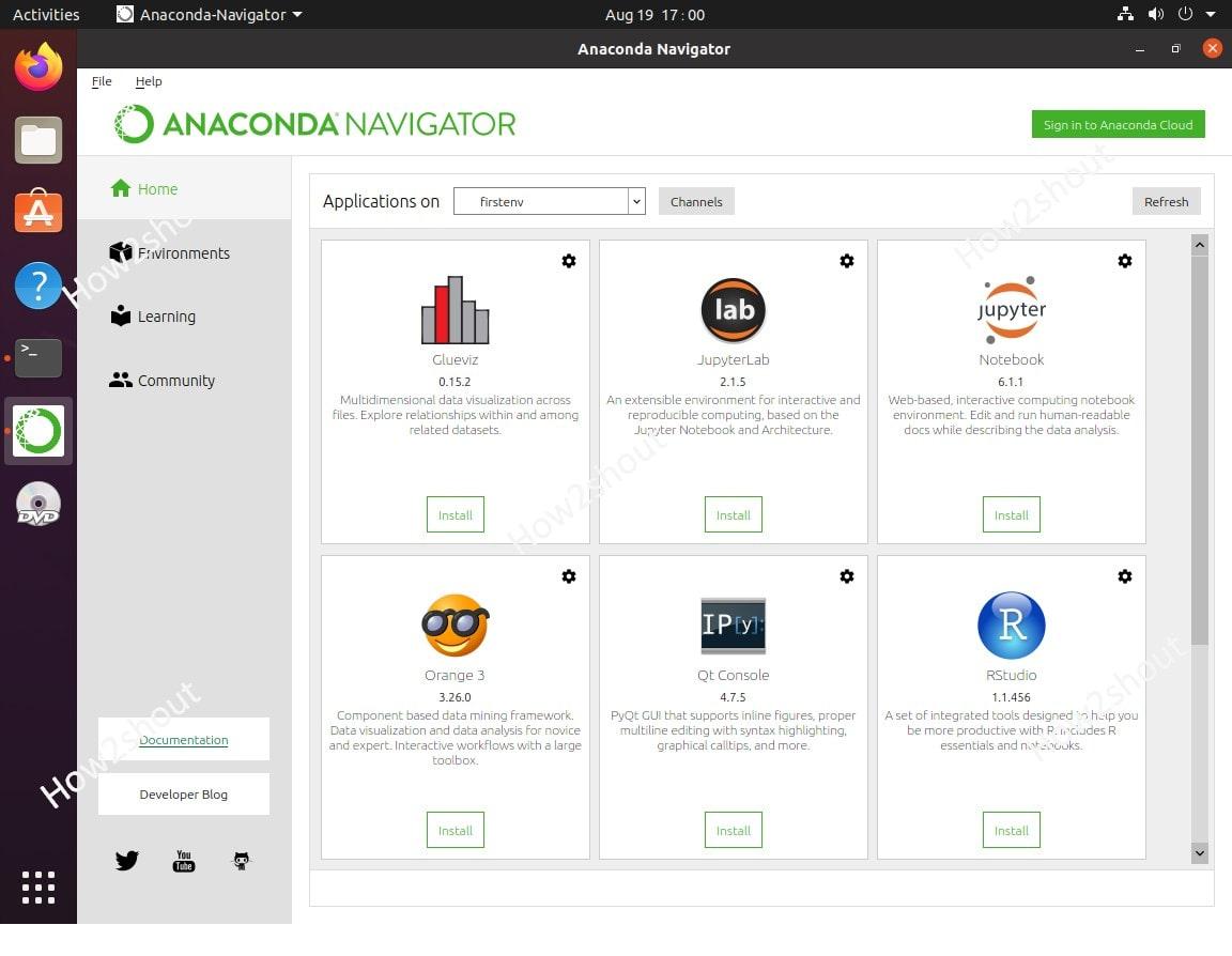 Install Anaconda Navigator Graphical user interface on Ubuntu and CentOS Linux