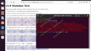 Install Linux 5.8 kernel packages on Ubuntu