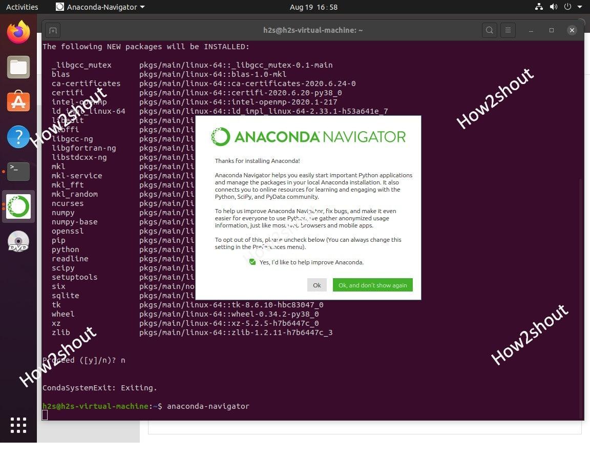 Run Anaconda Graphical Navigator ubuntu 20.04