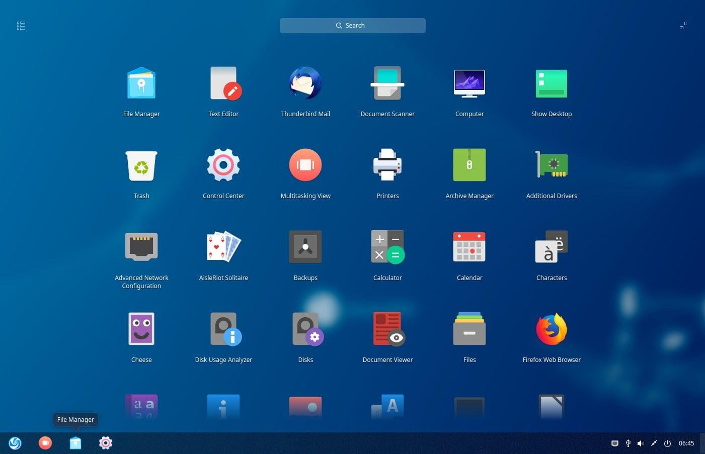 Ubuntu Deepin Desktop Apps laucnher