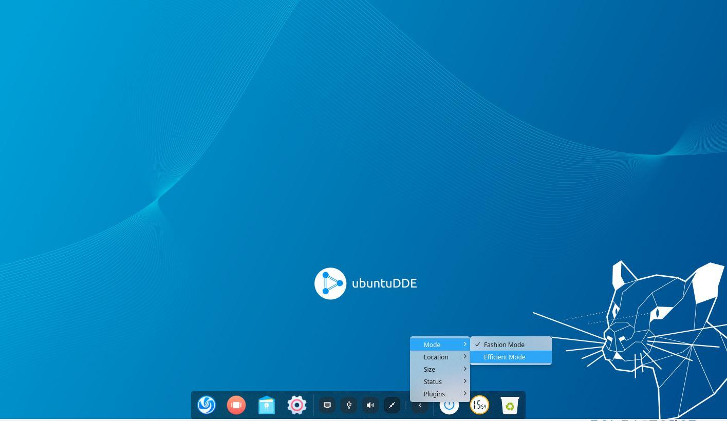 Ubuntu Deepin Launcher switch Dock to windows