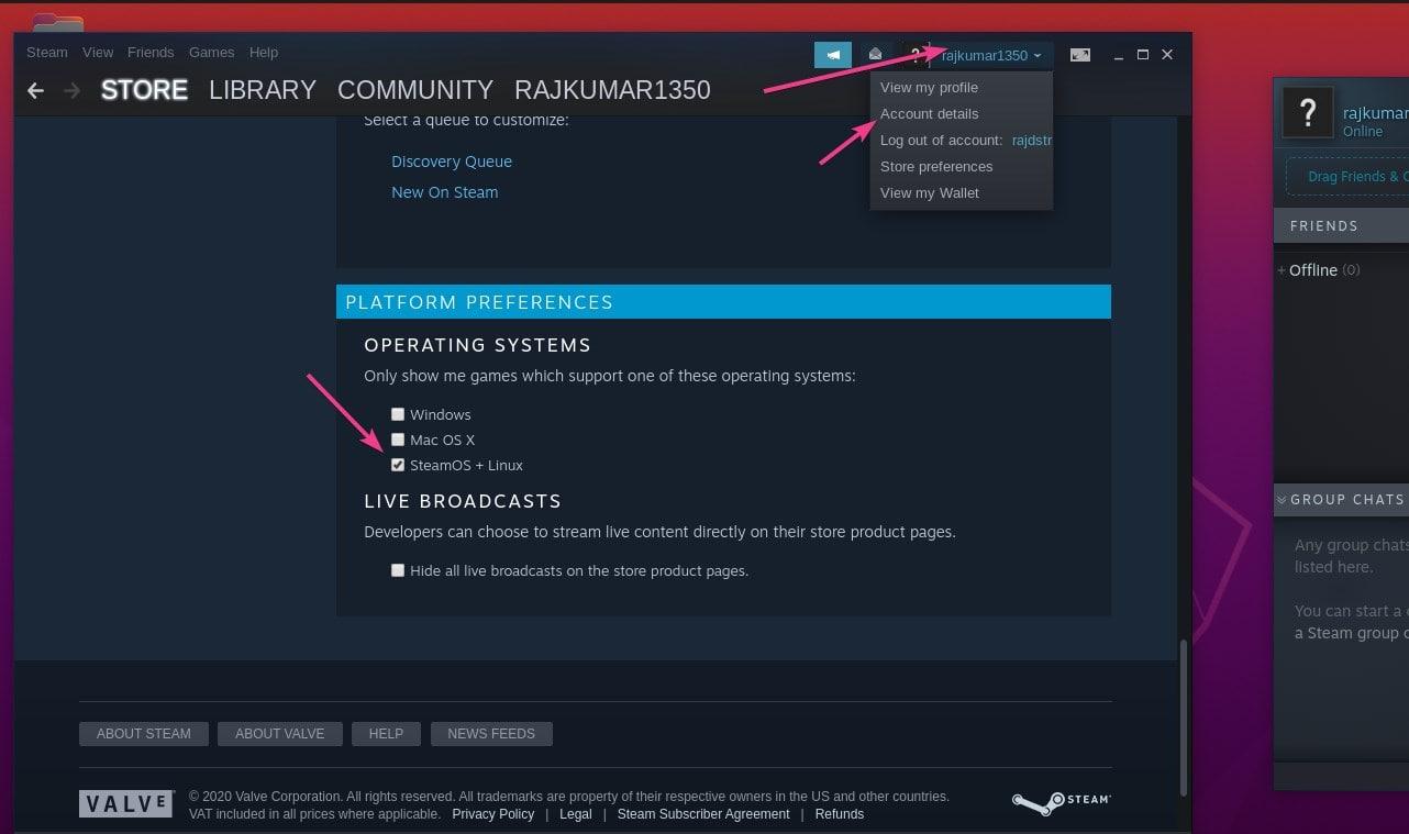 Change Default operating system on Steam min