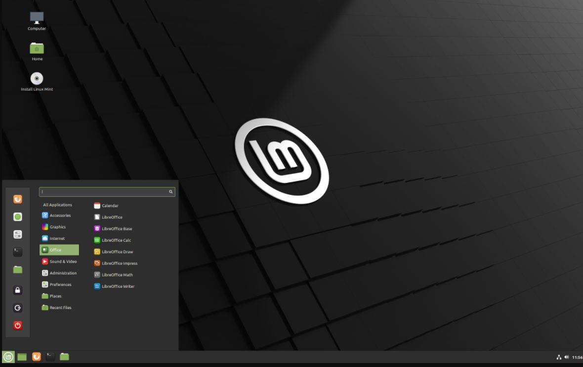 Cinnamon Linux destop environment min