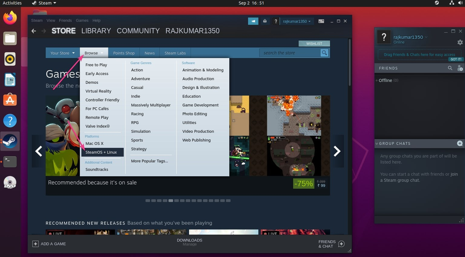 How To Install Steam On Ubuntu 20 04 Lts To Play Free And Paid Games Linux Shout