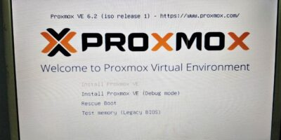 Install Proxmox using a Bootable USB drive