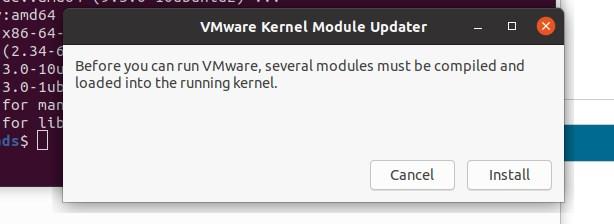 Install Vmware kernerl moduiles