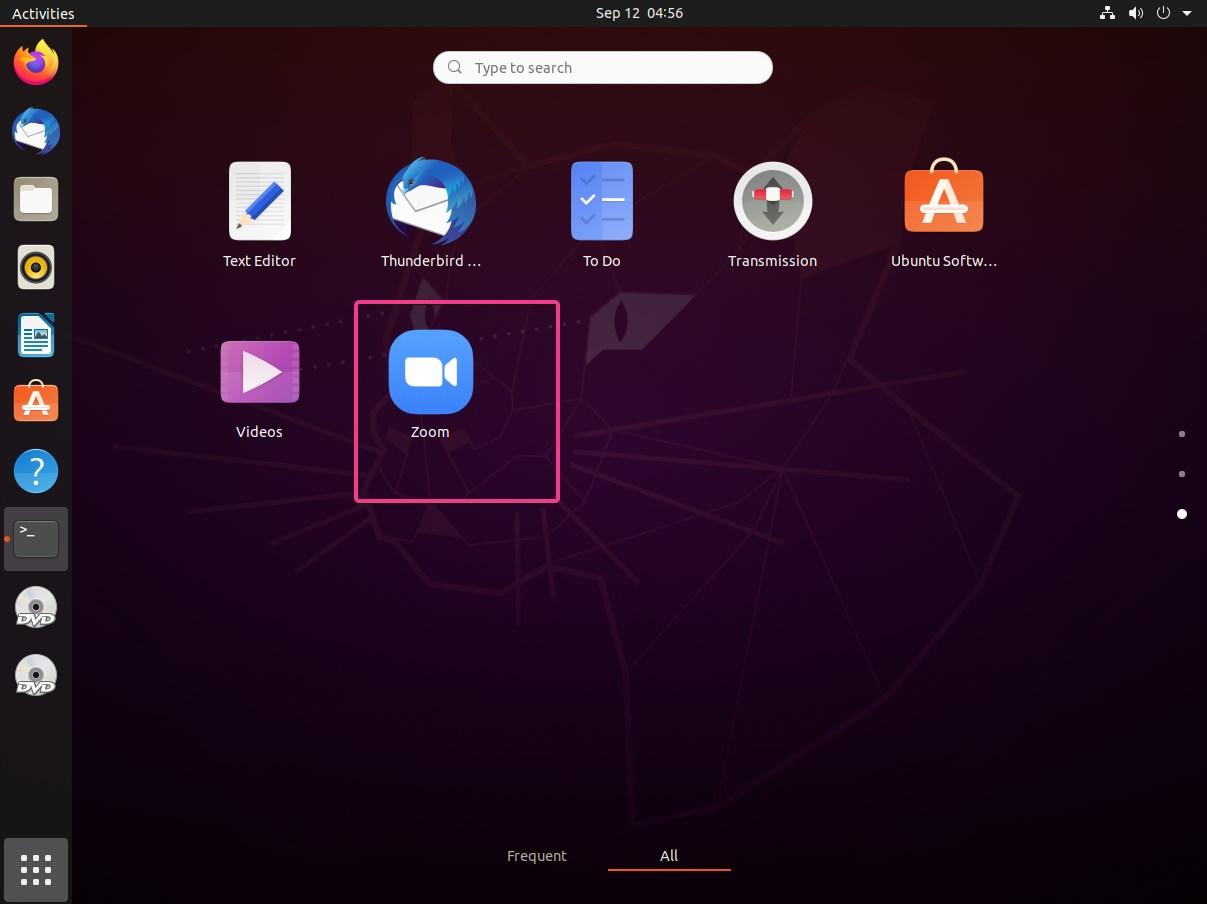 Run Zoom cloud meetings on Ubuntu 20.04