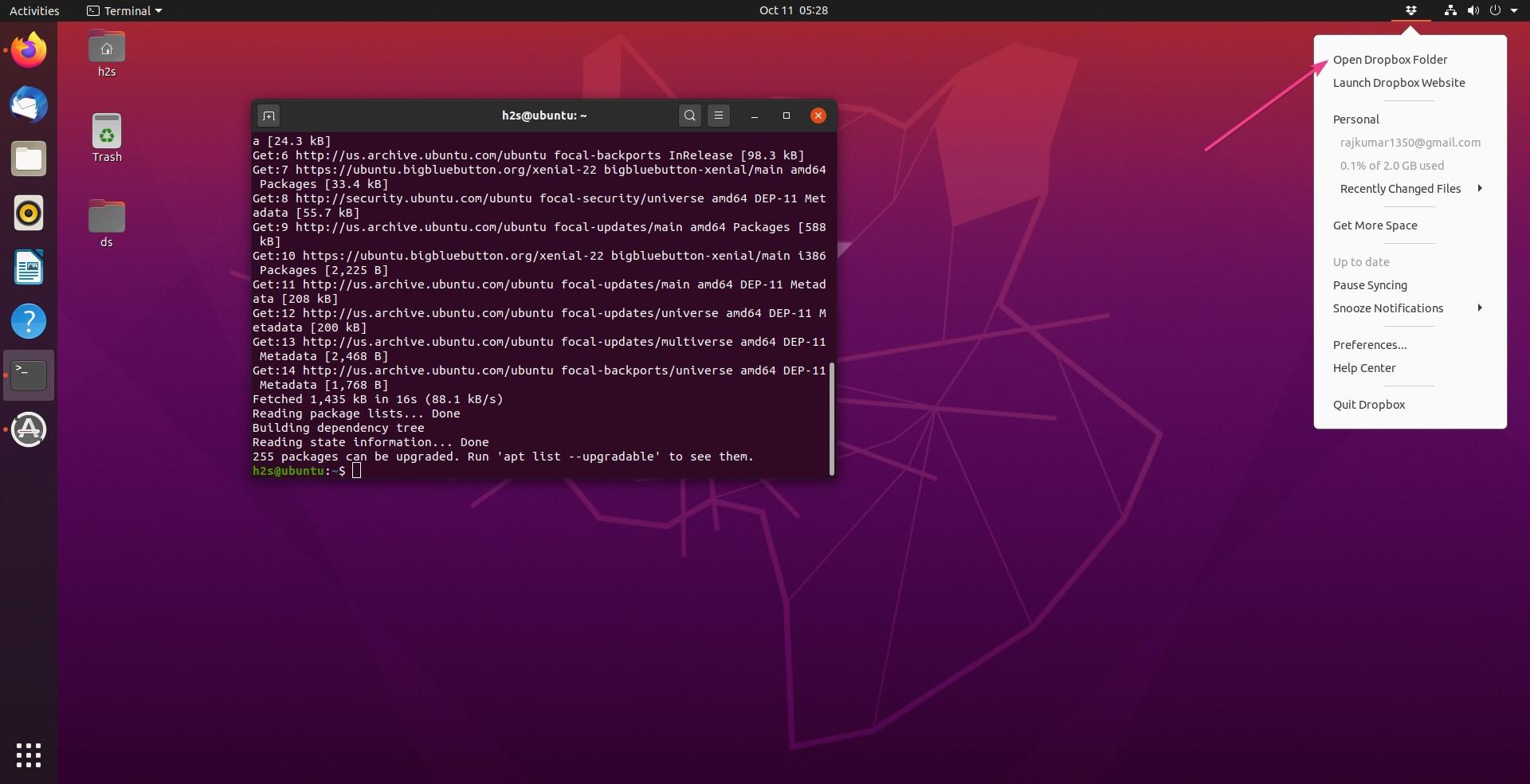 Access Dropbox Headless on Ubuntu 20.04 server