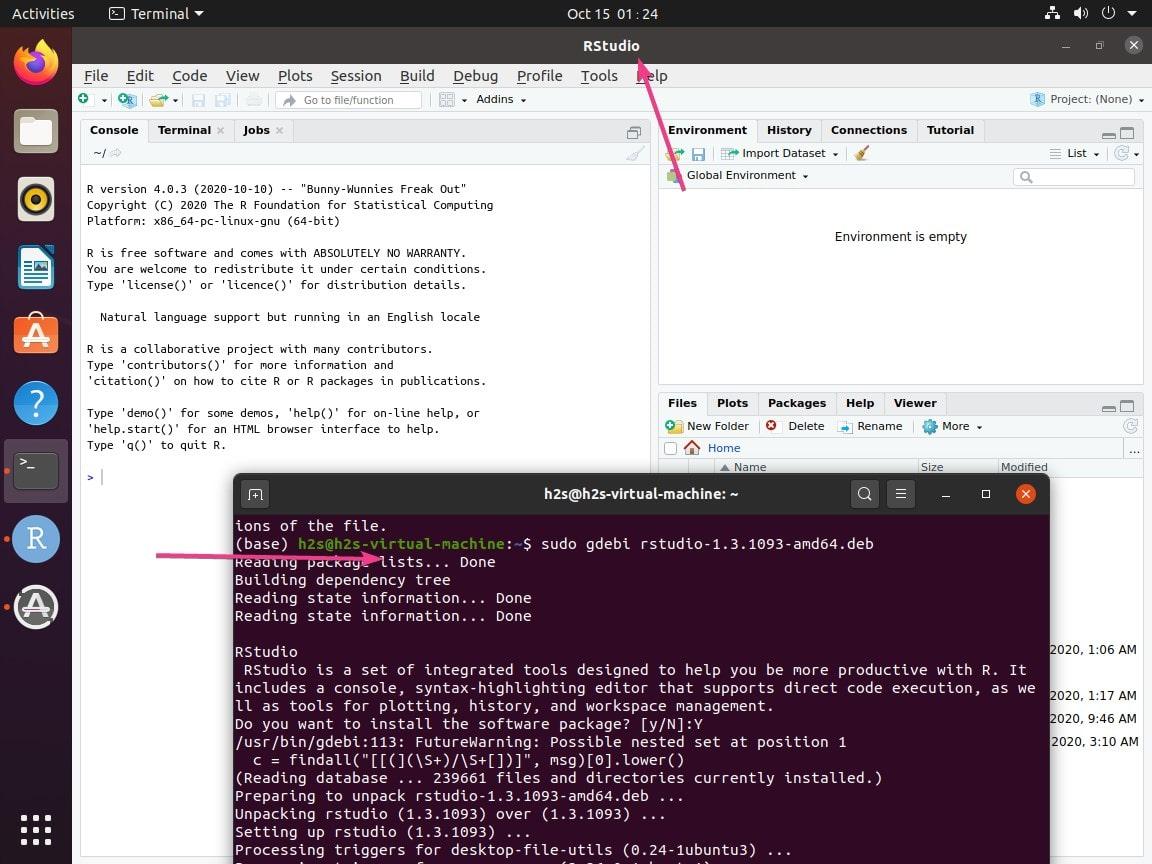 Command to setup Rstuio and R base on Ubuntu 20.04 or 18.04