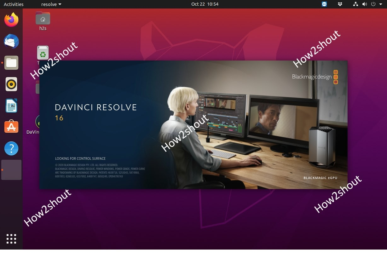 Download and install Davinvi Resolve 16 video editor on Ubuntu 20