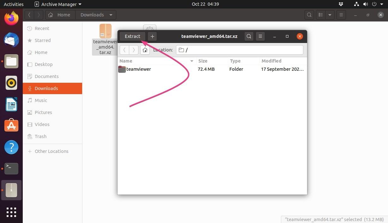 Extract teamviewer folder