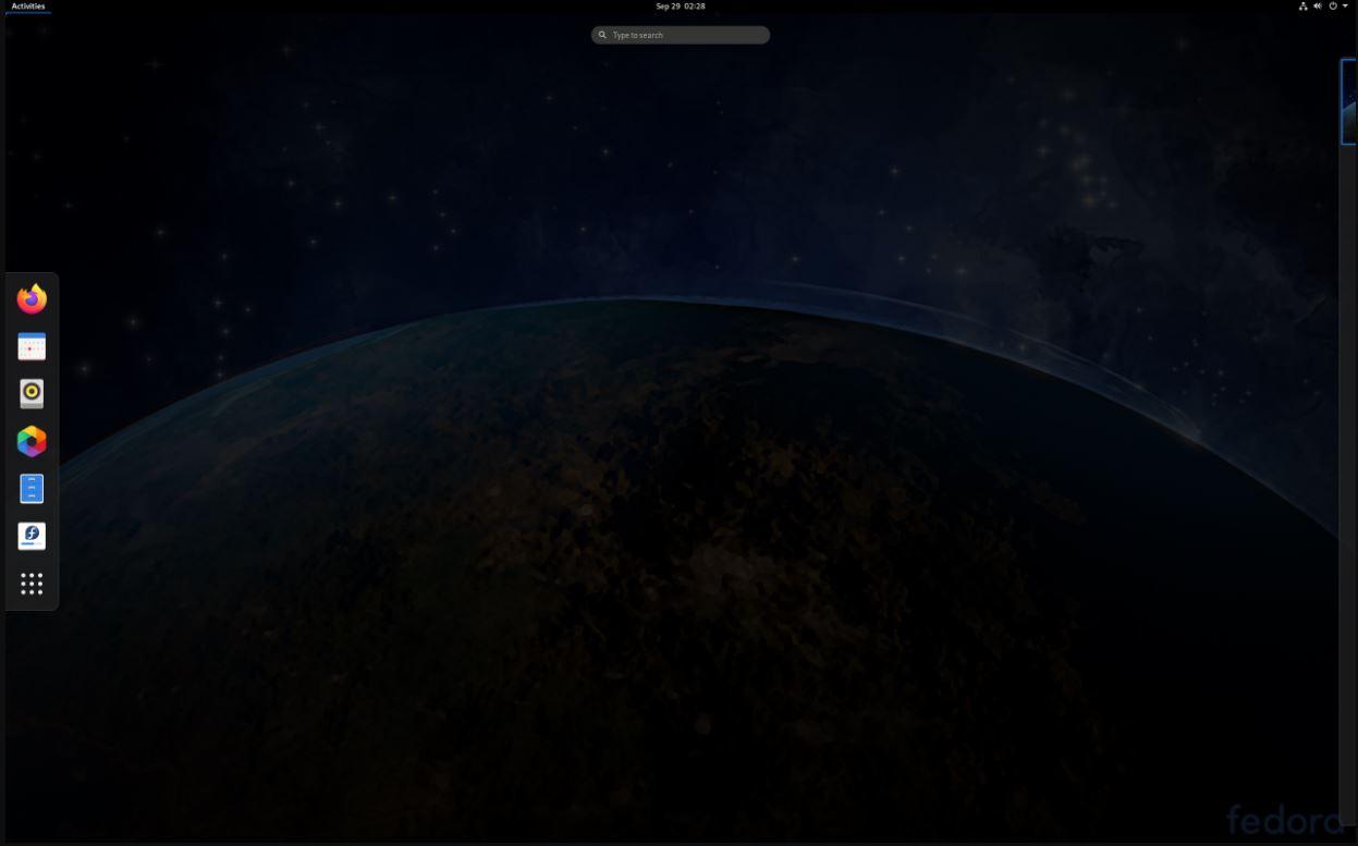 Fedora Linux screenshot min