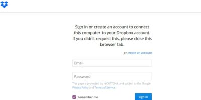 Login Dropbox account on Ubuntu 20